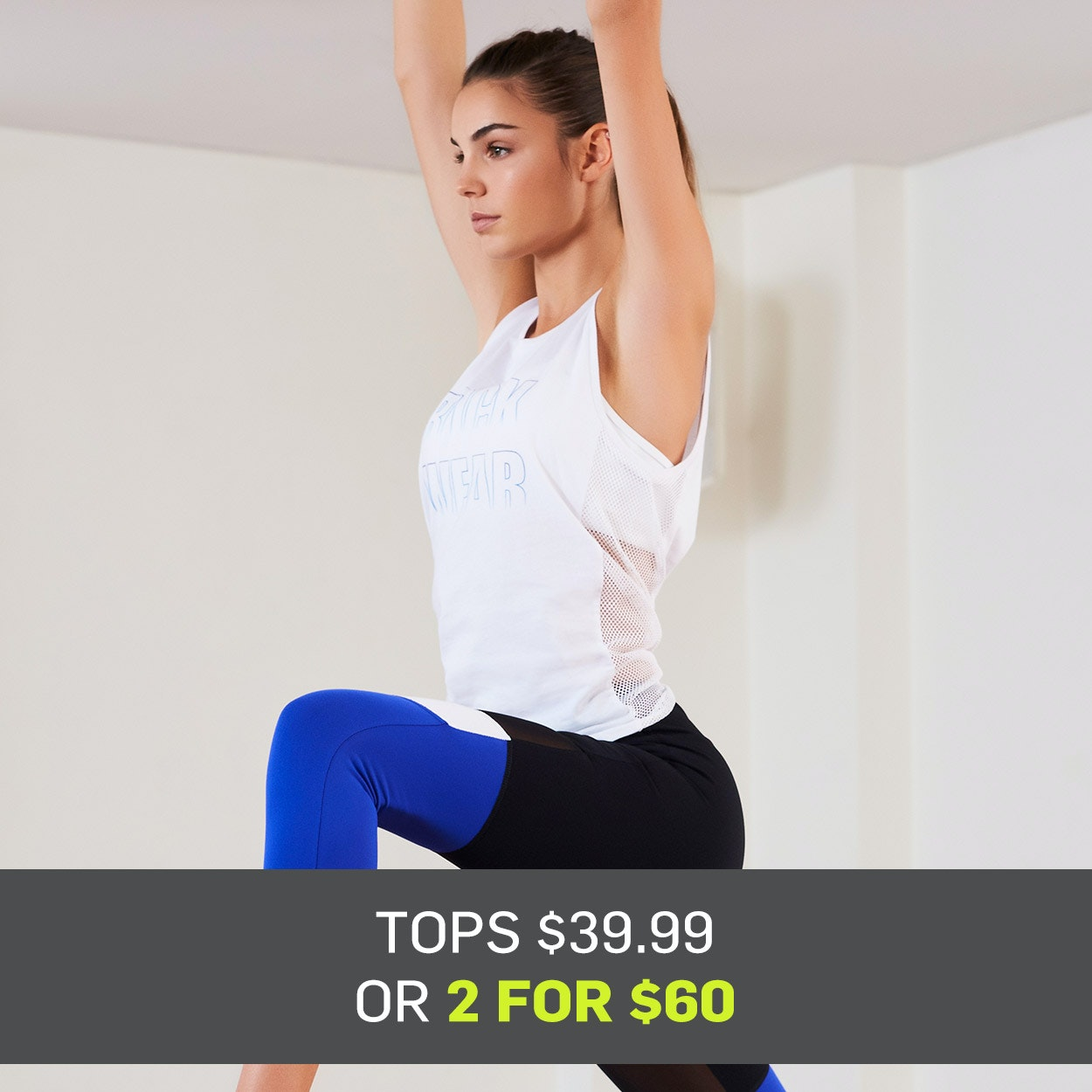 Womens Work out Tops from $39.99 or Get 2 for $60