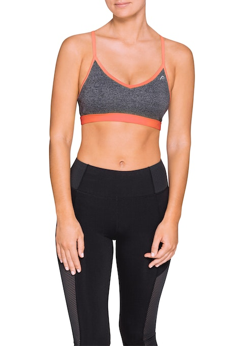Mid Grey/ Sorbet C Keni Sports Bra Lite Support