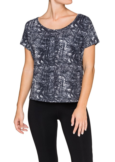 Reflective Print Reflective Off The Shoulder Print T