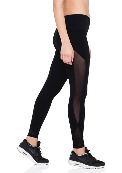 Black Urban Fl High Rise Tight