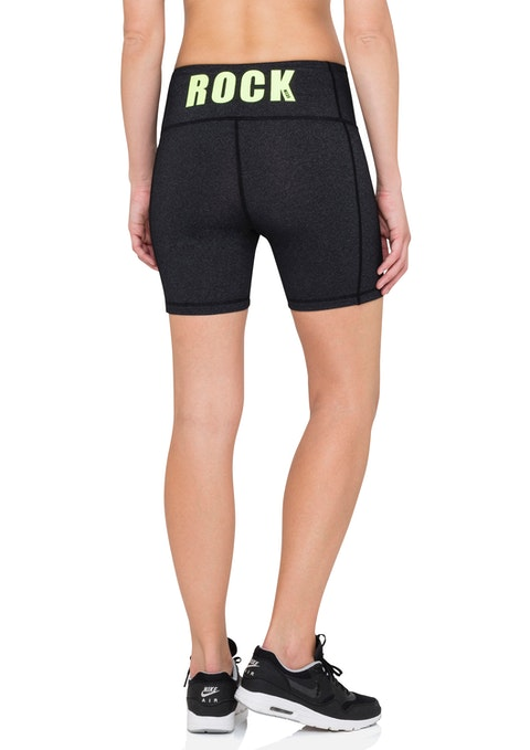 Charcoal Marle Urban High Rise Mid Thigh Tight