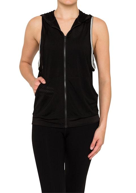 Black Graphite Mesh Sleeveless Jacket