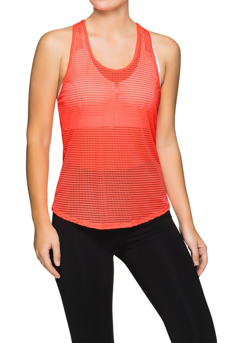 Crush Lava Perforated Active Singlet