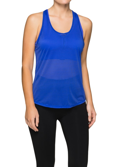 Electric Lava Perforated Active Singlet