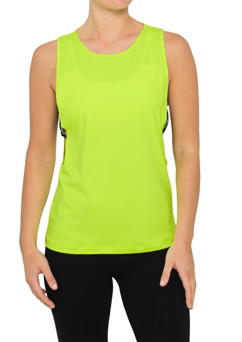 Lime Btl Elastic Side Active Muscle Tank