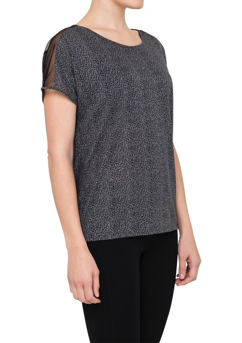 Charcoal Urban Burnout Stepped Hem Tee
