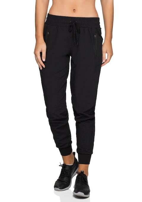 Black Pocket Detail F/l Casual Pant