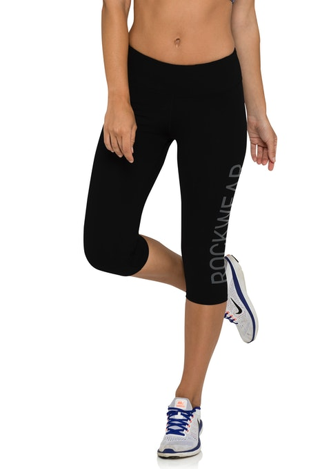 Black Supplex® Rockwear Logo 3/4 Tights