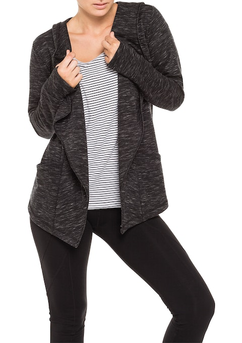 Charcoal Bt Waterfall Front Jacket