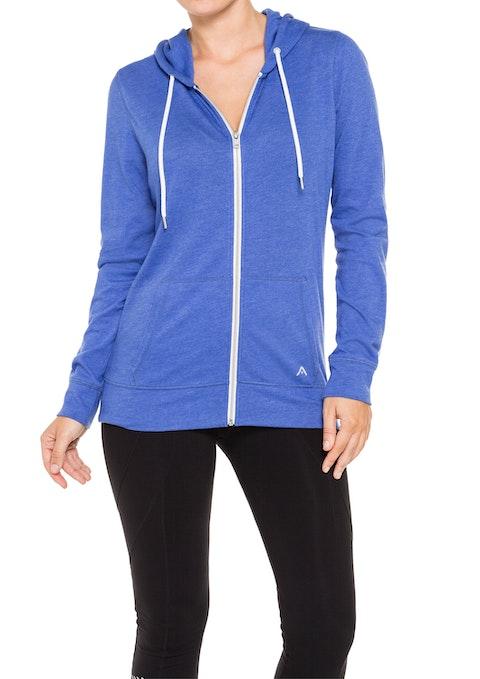 Blue Marle Zip Front Hoodie Jacket