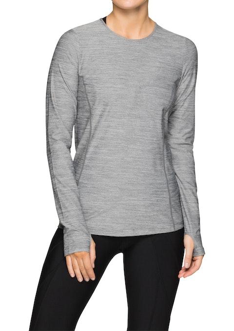 Grey Marle Ml Long Sleeve Active Top
