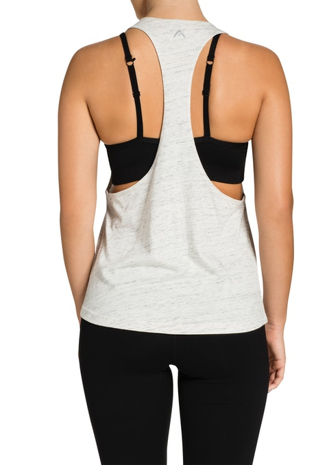 Cream Marle Ignite Racer Back Tank