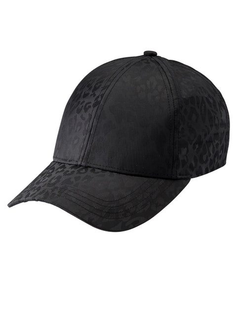 Black Jacquard 6 Panel Cap
