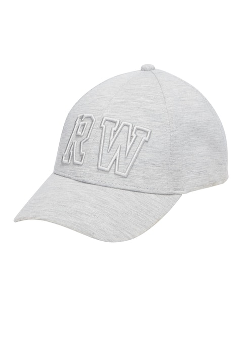 Mid Grey Marle Embroidered Logo 6 Panel Cap
