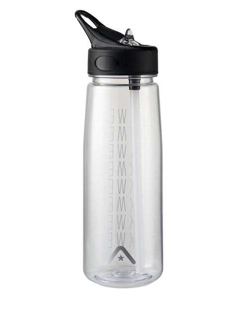 Clear Logo Waterbottle With Straw