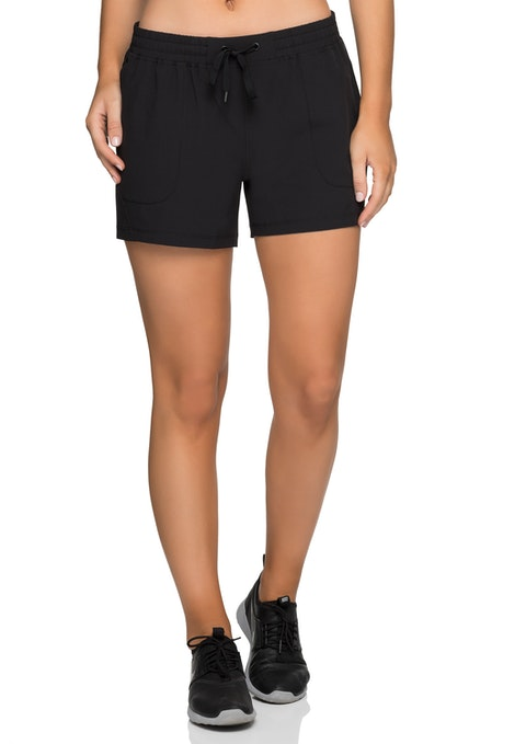 Black Ruched Waistband Dryfit Short