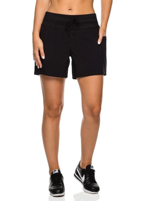Black Soft Waistband Dryfit Casual Short