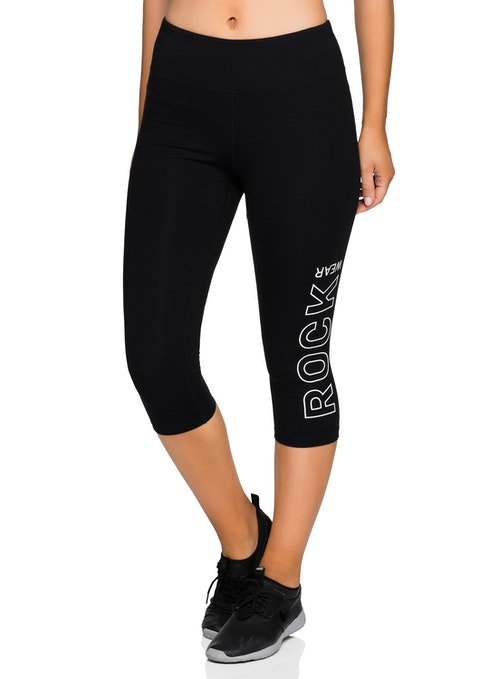 Black 3/4 Logo Tight