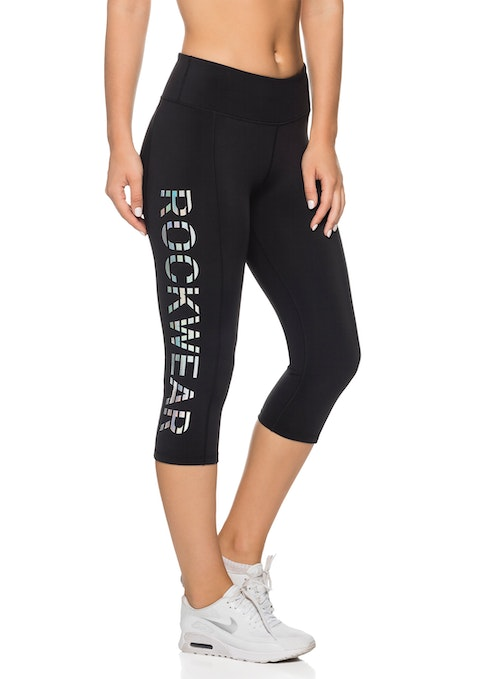 Black Mercury 3/4 Iridescent Logo Tight