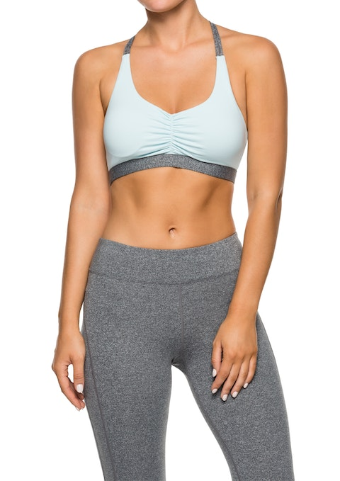 Cool Blue Exhale Ls Rouched Front Bra