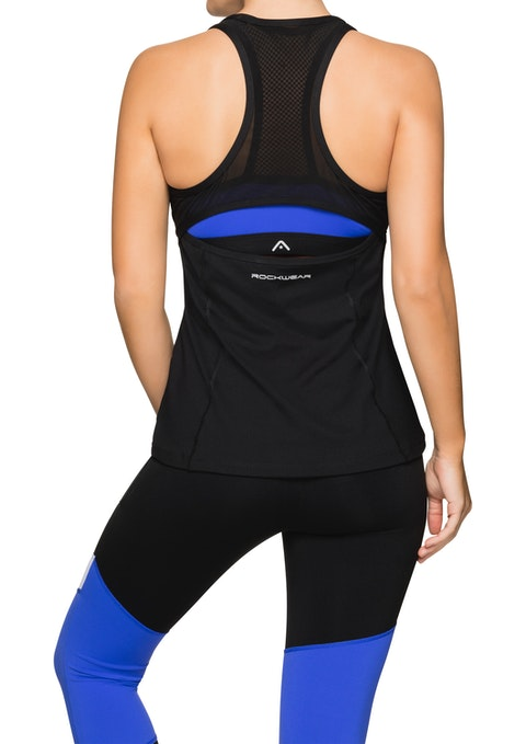 Black Laguna Fitted Active Singlet