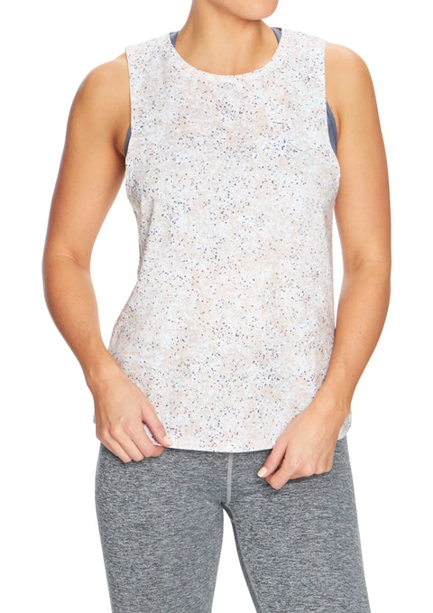 Peach Speckle Inversion All Over Printed Tank