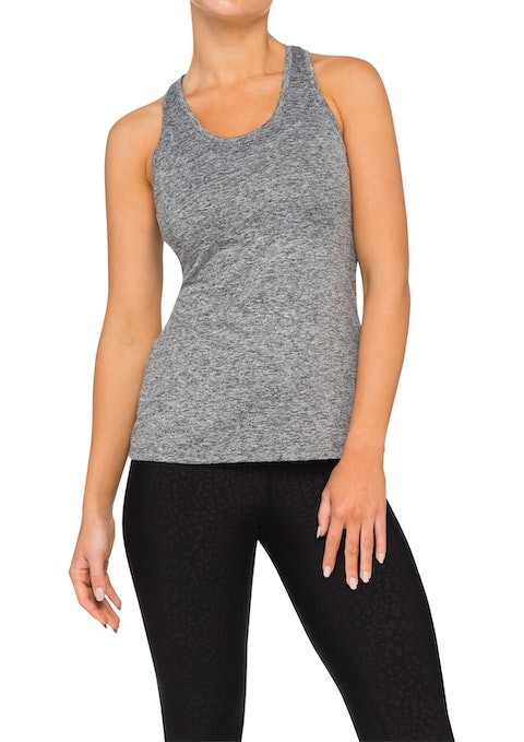 Mid Grey Marle Bliss Fitted Racer Back Singlet