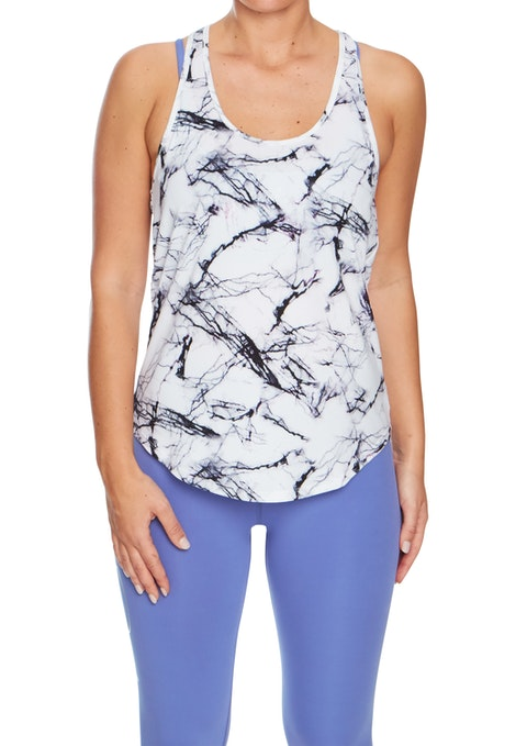 Inversion Flash Printed Cut Out Racer Singlet