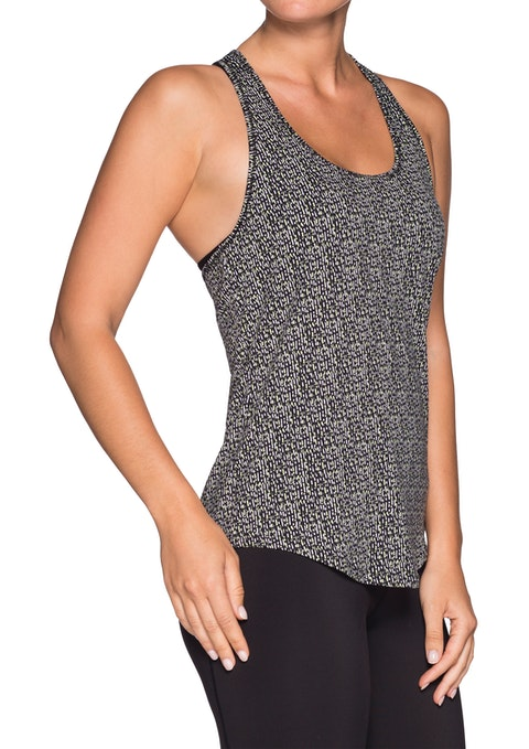 Reflection Flash Printed Cut Out Racer Singlet
