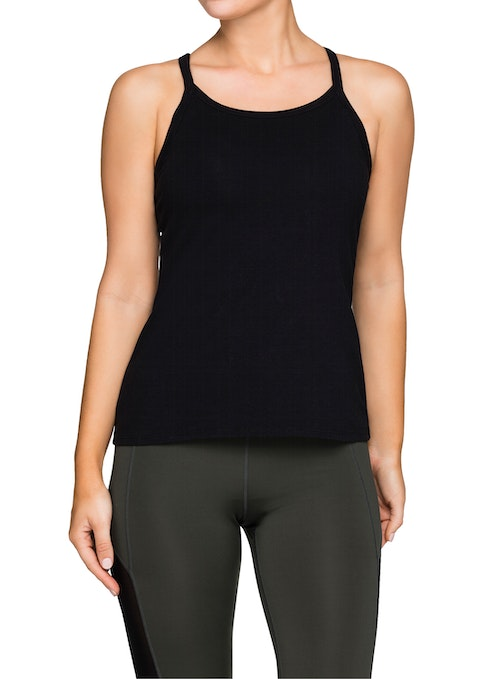 Black Casual Fitted Singlet