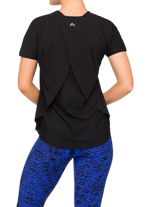 Black Mali Wrap And Mesh T-shirt