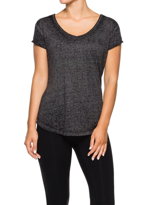 Charcoal Marle Astro V Neck Super Soft T-shirt