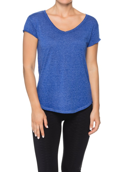 Hyper Blue Astro V Neck Super Soft T-shirt