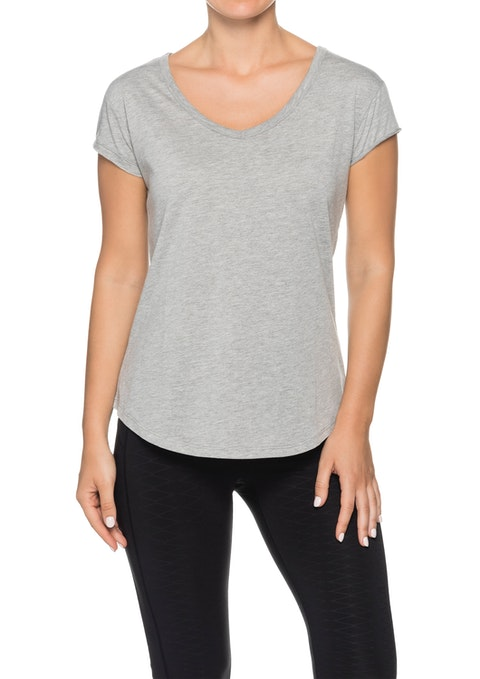 Light Grey Marle Astro V Neck Super Soft T-shirt