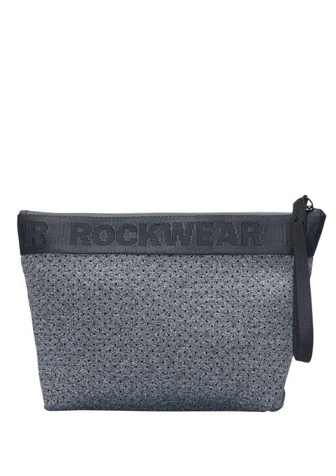 Dark Grey Marle Luxe Cosmetic Bag