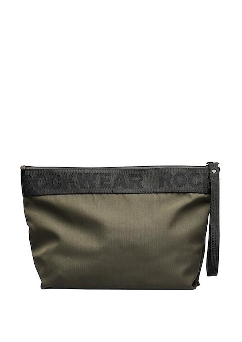 Khaki Luxe Cosmetic Bag