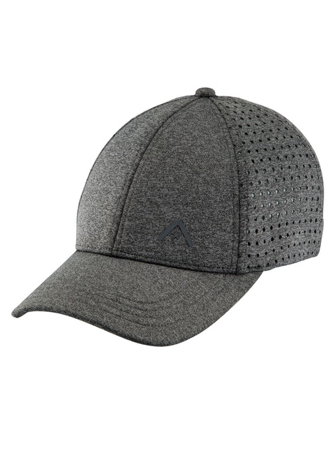 Grey Grey 6 Panel Perforated Cap