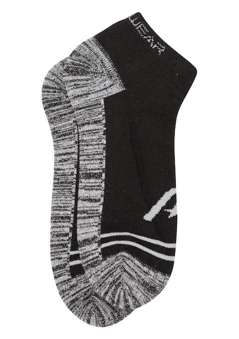 Black Grey Ankle Col Block Socks