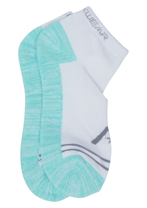 White Ankle Col Block Socks