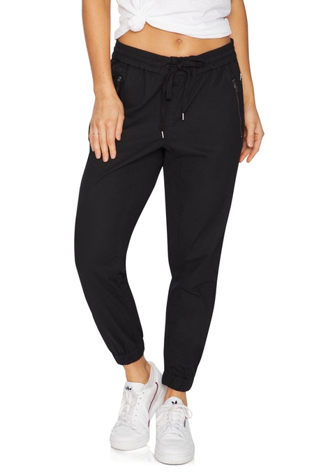 Black Casual Twill Cargo Pant