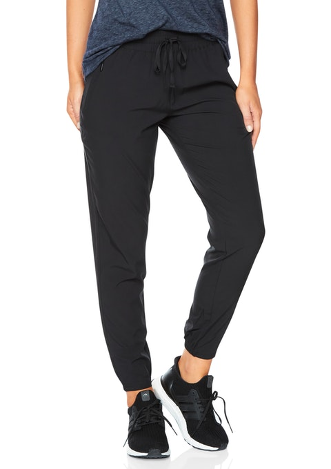 Black Casual Seam Detail Pant