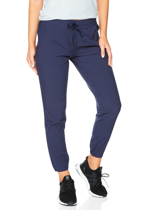 Navy Casual Seam Detail Pant
