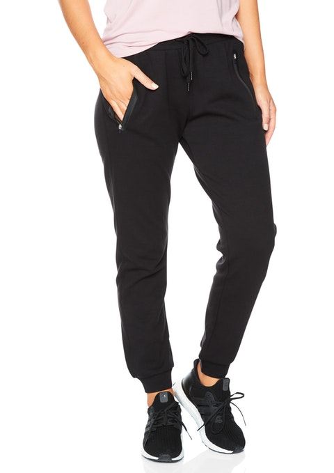 Black Traditional Track Pant