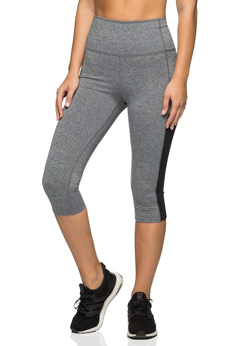Mid Grey Marle We 3/4 Ultra High Rise Prism Tight