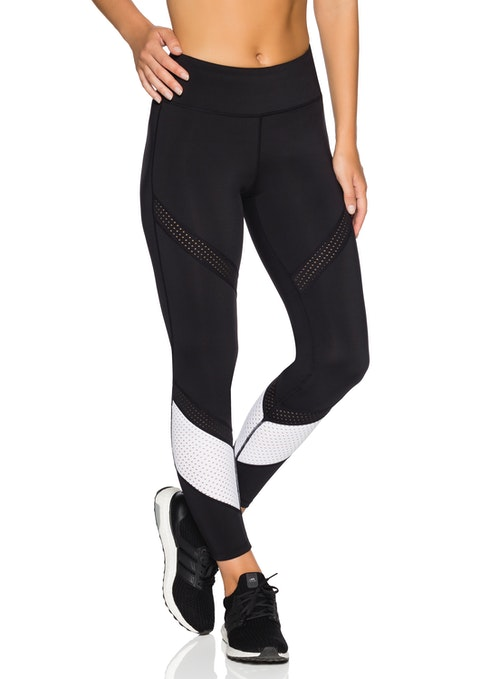 Black And White We Fl Perforated Tight