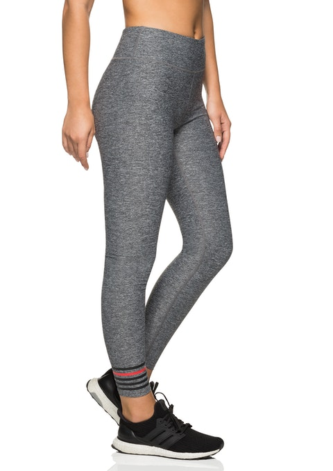 Mid Grey Marle Winj8 Fl Logo Stripe Tight