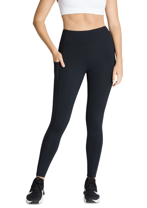 Black Winj9 Fl Hr Perforated Pocket Tight