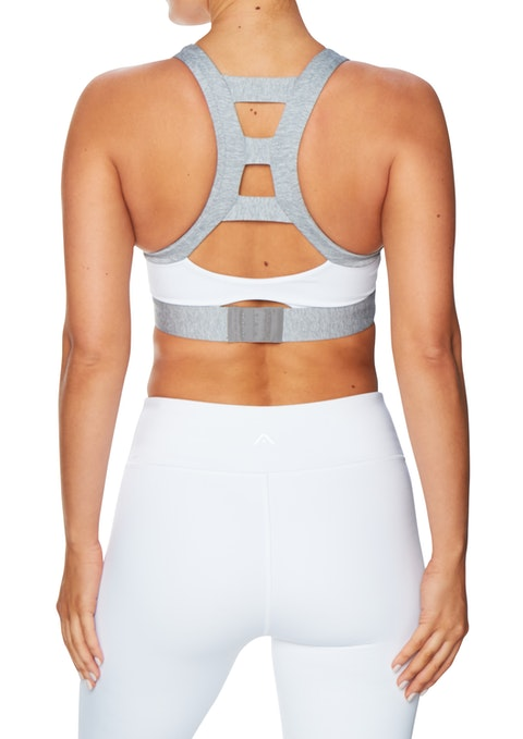 White Cj Hs Wide Band Sports Bra