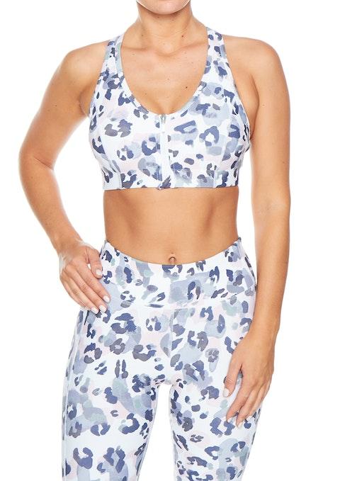 Leopard Print Ll Ms Print Zip Bra