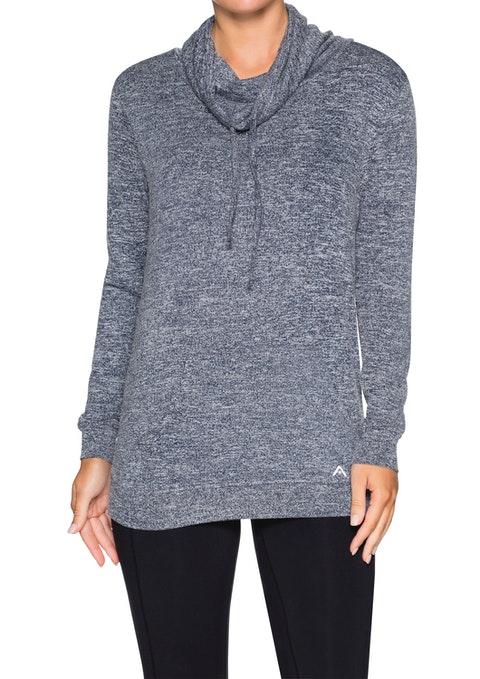 Midnight Funnel Neck Kangaroo Pocket Sweat